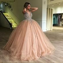Румяна Розовый бальное платье бальные платья сладкий 16 бисером Формальные платья vestidos de 15