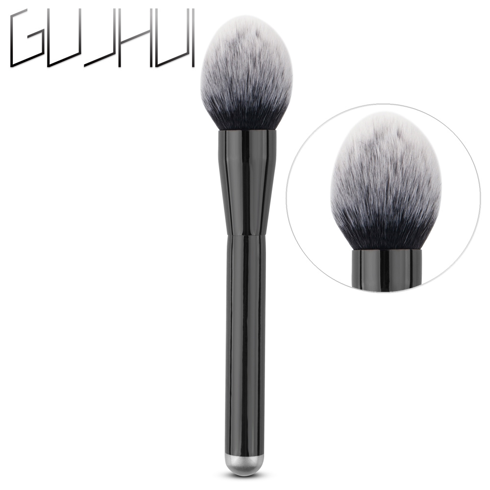 Beauty & Health Eye Shadow Applicator Popular Brand Black Makeup Brush Soft Hair Face Blush Contour Concealer Powder Foundation Blending Professional Cosmetic Brush Rattan Handle