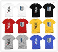 Venta caliente attack on titan t-shirt 100% algodón libre del envío 5 colores