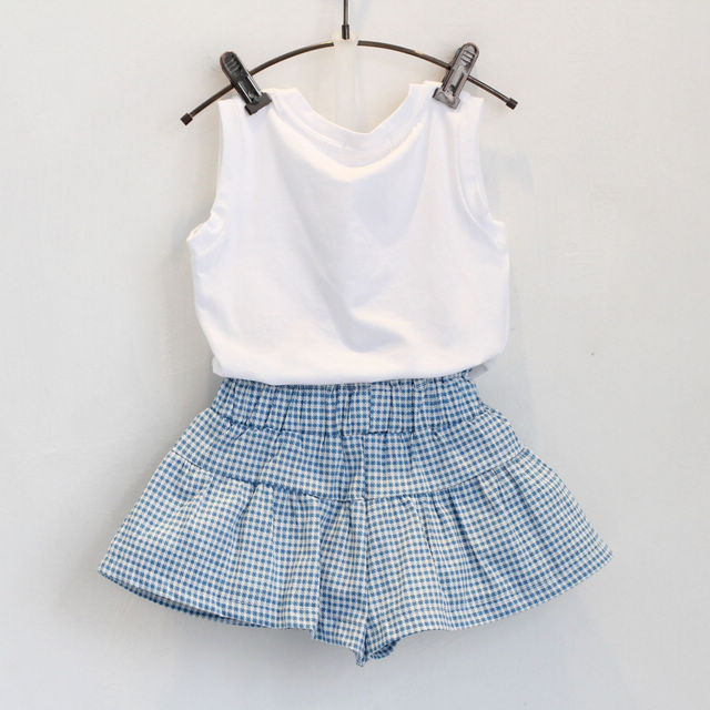 Girl's Summer Cotton Clothing Set