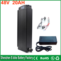 Rear Rack 48v 1000w Lithium Battery 48v 20ah Ebike Battery With BMS Charger And Power Lights