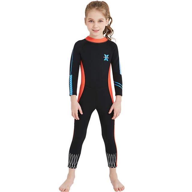 c6ff883a7d2c1 placeholder Kids 2.5mm Neoprene Diving Wetsuit Boys Girls Swimsuits Long  Sleeve Swimwear Full Body Sun UV