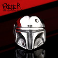 Beier new store 316L Stainless Steel ring top quality New Star Wars Clone storm Mask ring fashion jewelry  BR8-293