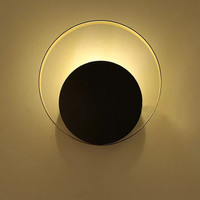Industrie Loft Kupfer Ring LED Wand Lampe Schlafzimmer Nacht Wohnzimmer Asle Wandleuchte Dekoration Leuchten Kostenloser Versand-in LED-Innenwandleuchten aus Licht & Beleuchtung bei