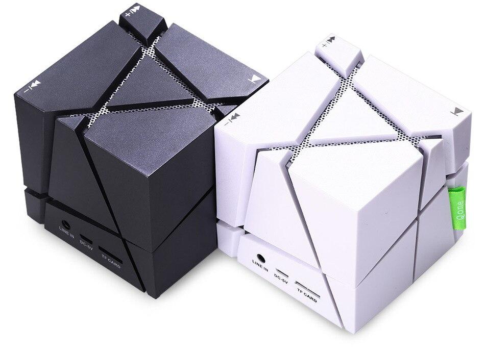 Magic <font><b>Cube</b></font> Портативный Mini <font><b>Bluetooth</b></font> Динамик со светодиодной подсветкой Встроенный 500 мАч Батарея Стерео Звук Box MP3 плеер сабвуфер Колонки