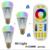 8 w inteligente rgbww levou lâmpada e27 + 2.4g rf controle remoto 16 milhões de cores regulável mi. light levou conjunto lâmpada ac85-265v
