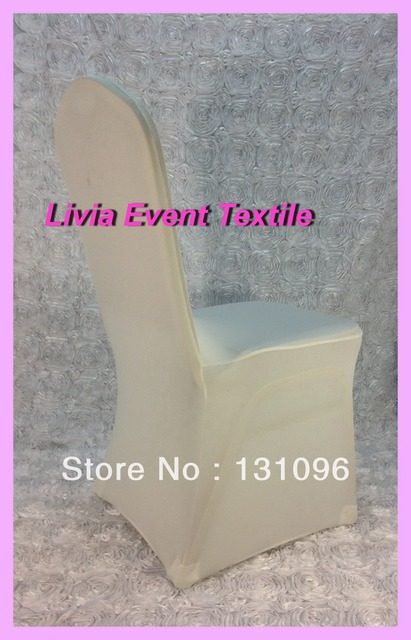 100pcs Factory Direct Sale High Quality Ivory Lycra Chair Cover  Arch Front for Wedding Events &Party Decoration