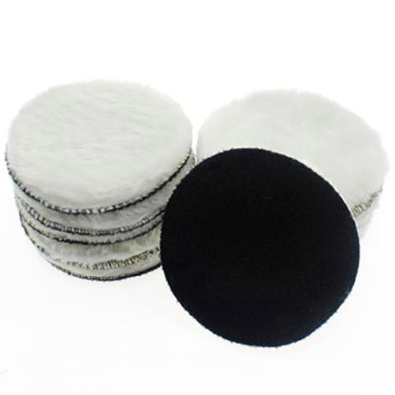 10 Pcs 125 Mm Car Polishing Pad 5 Inch Inch Polish Waxing Pads Wool Polisher Bonnet Car Paint Care Wool Polishing Pad