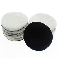 10 Pcs 125 Mm Car Polishing Pad 5 Inch Polish Waxing Pads Wool Polisher Bonnet Paint Care