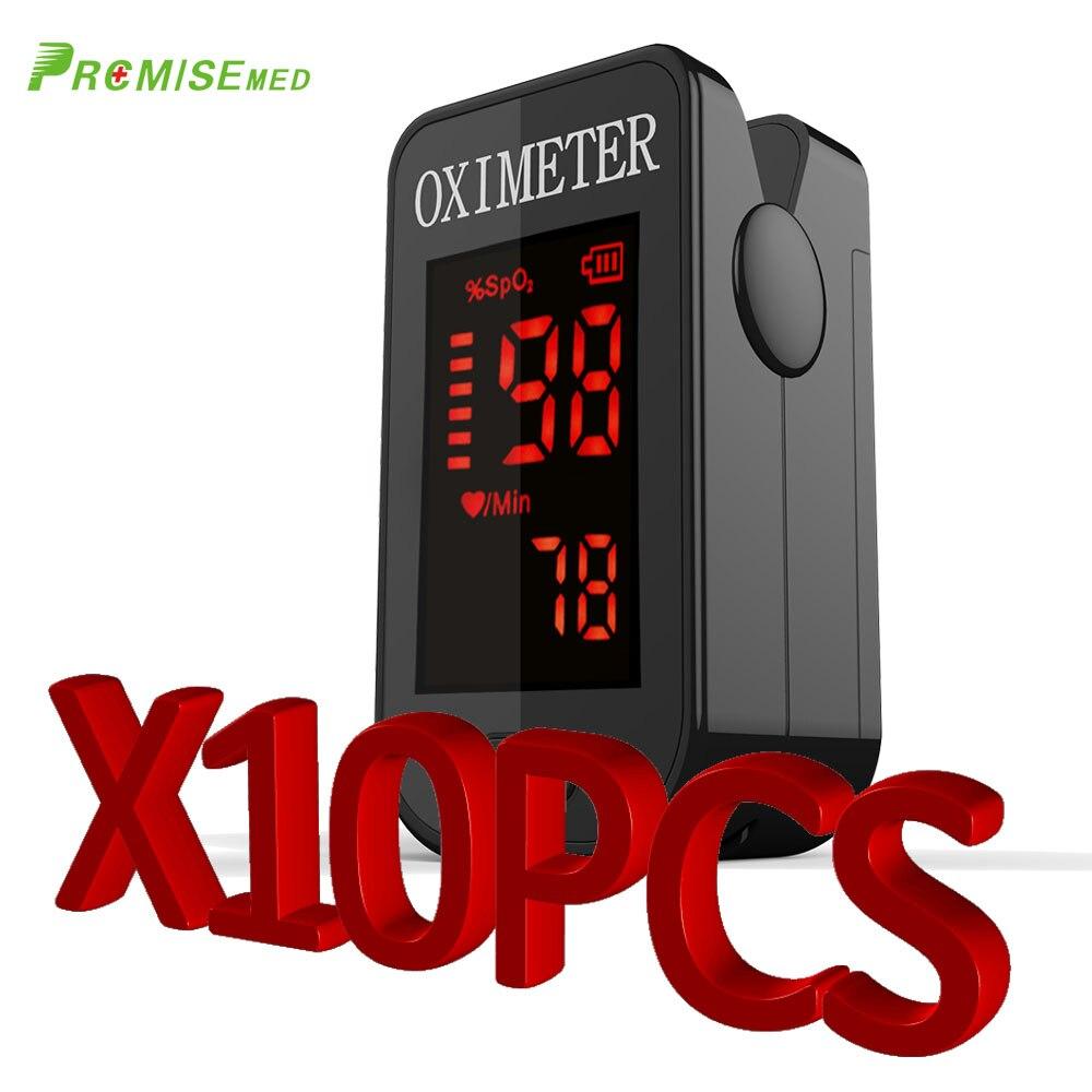 PRCMISEMED 10 шт. Бытовая Здоровье Мониторы Пульсоксиметр CE монитор Нажатием Пульсоксиметр SPO2 оксиметр ABS Сенсор-прохладный черный