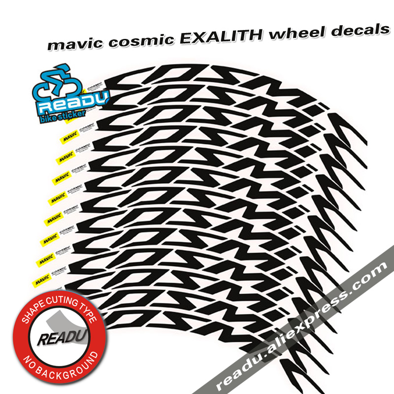 2017 cosmic EXALITH Road Bike Wheelset decals 700C bicycle Wheel rims stickers A Pair rim depth 40mm 52mm decals bike stickers hot outdoor bicycle sticker ffwd f9r road bicycle wheel group stickers suitable for 80 88 rims for two wheel decals bike sticker