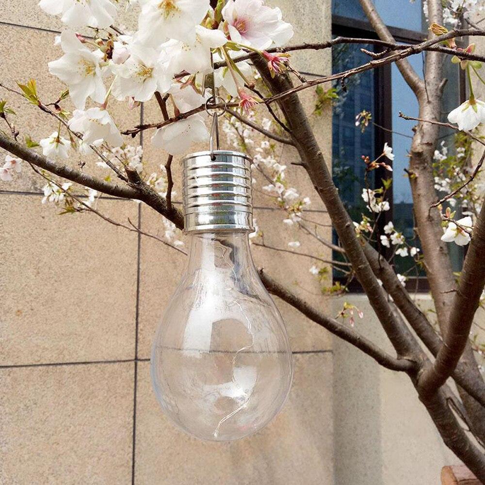 Home Garden Solar Light Bulb Waterproof Solar Rotatable Outdoor Garden Camping Hanging LED Light Lamp Bulb Decoration Light