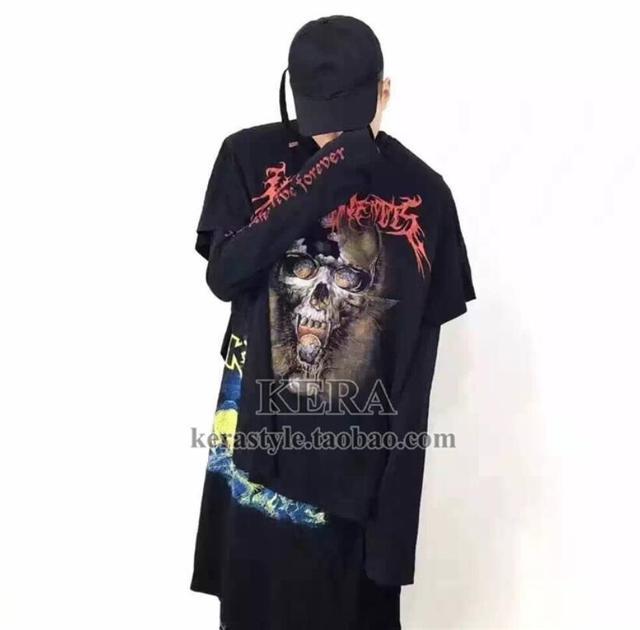 G-Dragon же стиле Моды череп письма с длинными рукавами свободные трех частей Костюмы мужчин и женщин Хэллоуин одежда сценические костюмы