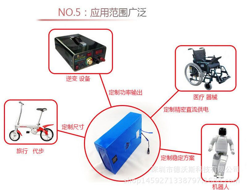 High quality 36V 8AH Lithium ion li ion Rechargeable Battery with 15A BMS 2A charger for 36V Electric Bicycles Power Bank - 6