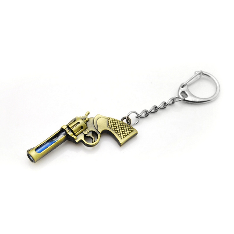 Antique Bronze Plated Bullet Keychain Metal Key Chain Souvenir Keyring TrinketTS
