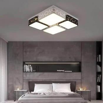 الحديثة أدى السقف مصباح غرفة المعيشة مصباح غرفة نوم التحكم عن بعد مصباح مستطيلة مطعم مصباح الدافئة الحديثة الحد الأدنى الأزياء