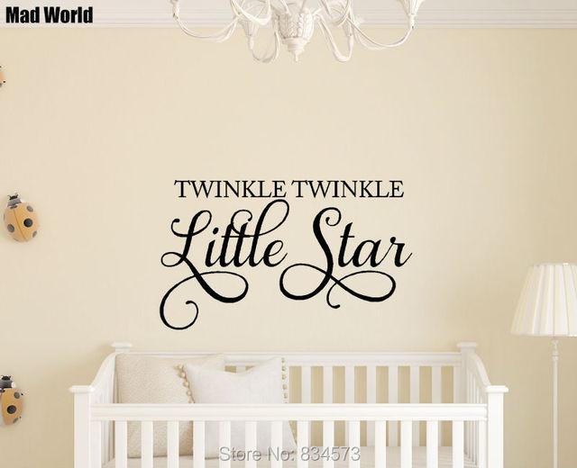 Mad World Twinkle Twinkle Little Star Nursery Kids Wall Art Sticker ...