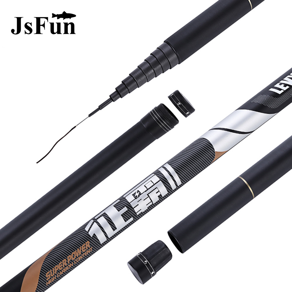 Ultra Long Hard 8 9 10 11 12 13 Meters Stream Hand Pole Carbon Fiber Casting Telescopic Fishing Rods Carp Fish Tackle L176 goture carbon fiber telescopic fishing rod 8m 9m 10m 11m 12m long ultra hard hand stream pole for carp fishing accessories