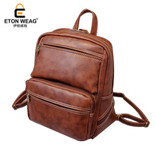 ETONWEAG New 2017 men famous brands laptop preppy style school bags vintage fashion travel bags cow leather backpacks