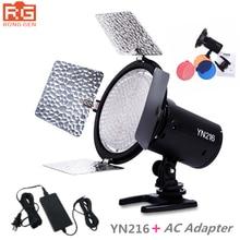Yongnuo YN-216 YN216 LED Światło Fotografia Studio Wideo i 4 kolor wykresy + AC adapter dla Canon Nikon Sony Kamera DSLR