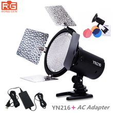 Yongnuo YN 216 YN216 LED Studio Video Luce Fotografia e 4 tabelle di colore + AC adapter per Canon Nikon Sony Camcorder DSLR