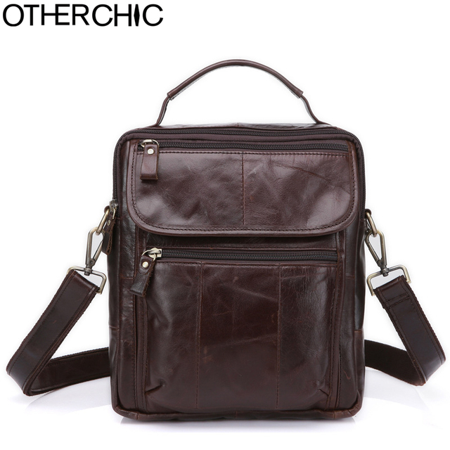 3bdc7e9983f OTHERCHIC Genuine Leather Roomy Men Bags Brand Designer Handbags Shoulder  Vintage Cow Crossbody Bag Men Messenger