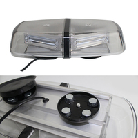 72W Car Roof Emergency Strobe Lights COB LED Light Bar Police Warning Flash Lamp for 12V 24V Vehicles Red Yellow Blue