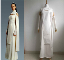 Free shipping Custom made high quality New Star Wars Chelte Retlake Women White Dress Cosplay Costume