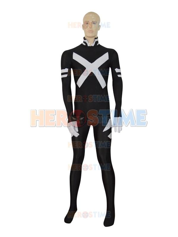 X-force Psylocke Costume femme/homme Spandex super-héros Costume noir blanc grand cosplay costume livraison gratuite