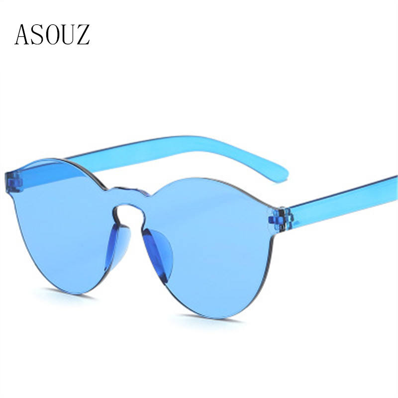 2019 new fashion ladies sunglasses classic brand design men 39 s sunglasses UV400 round color transparent driving sunglasses in Women 39 s Sunglasses from Apparel Accessories