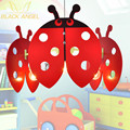 On Sale pendant lights kids lighting for bedroom dragonfly stained lamps novelty baby room lamp free shipping