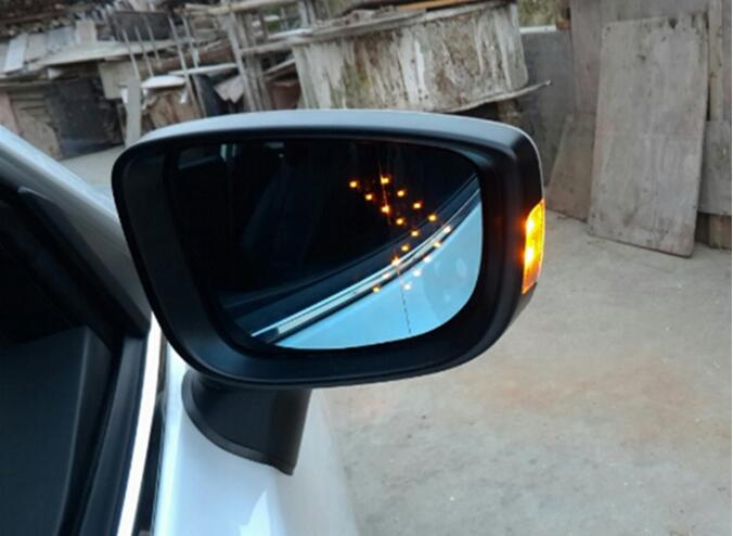LED heating side turn signal blue curvature anti defogging dazzling rearview <font><b>mirror</b></font> <font><b>Rear</b></font> <font><b>view</b></font> for <font><b>MAZDA</b></font> <font><b>3</b></font> Axela 2014-2017 image