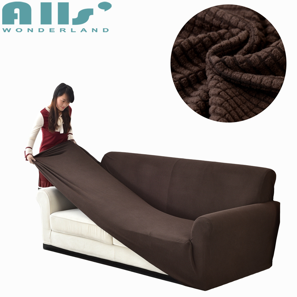 Couch Covers Us 69 Polar Fleece Slicover Elastic Sofa Covers Spandex Stretch Covers For Couch Loveseat Sofa Beige Grey Brown Black High Quality In Sofa Cover