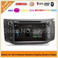 2 DIN 8 inch car DVD Player For Nissan/Bluebird/Sylphy/Sentra/Pulsar 2013-2017 car radio with GPS Navigation WIFI/3G-USB IPOD