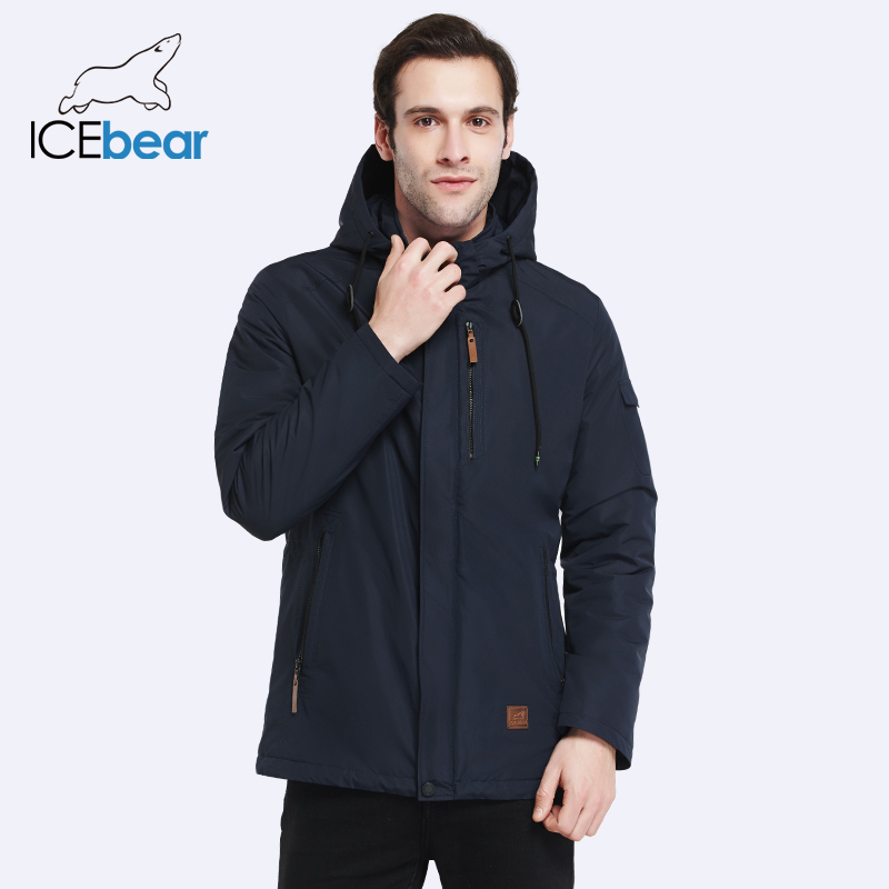 ICEbear 2019 High-quality Men Coat Spring New Arrival Casual   Parka   Solid Thin Brand Fashion Coat 17MC010D