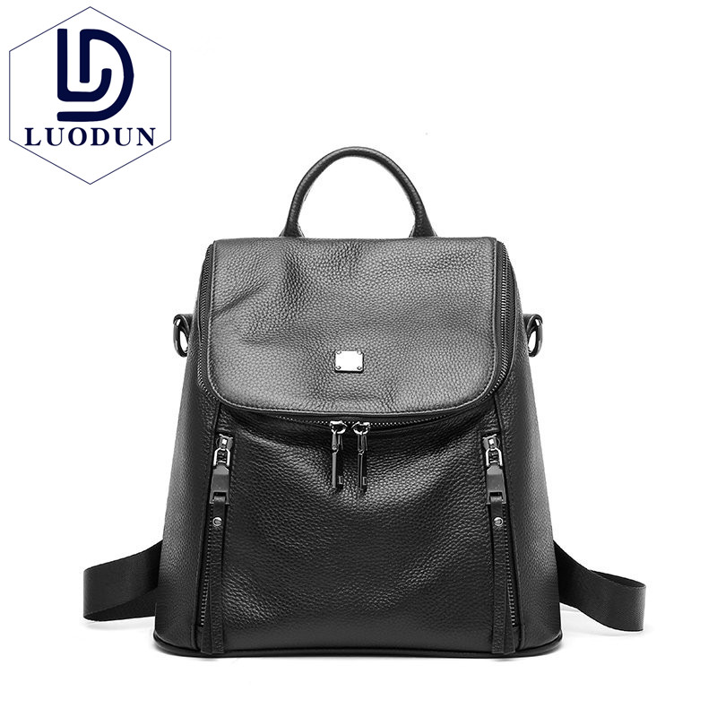 LUODUN 2018 New Shoulder Bags Leather Korean Fashion The first layer Leather Large capacity Backpack Short trip Ms. bag amelie galanti ms backpack fashion convenient large capacity now the most popular style can be shoulder to shoulder many colors