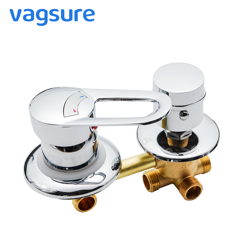 2/3/4/5 Ways Water Outlet Screw Thread Brass Shower Faucet Mixer Diverter 10cm/12.5cm/14.5cm Cold and Hot Mixing Valve Bathroom2/3/4/5 Ways Water Outlet Screw Thread Brass Shower Faucet Mixer Diverter 10cm/12.5cm/14.5cm Cold and Hot Mixing Valve Bathroom