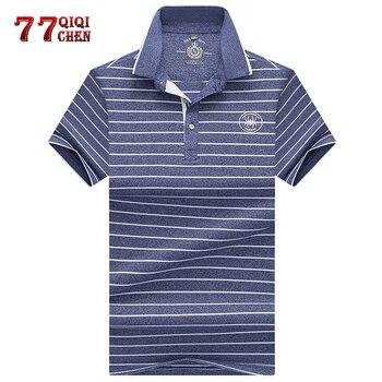 d6f17b73c3 Camiseta Polo de manga corta con solapa estampada de marca 2019 verano  nuevo estilo casual de negocios de moda para hombre a rayas Polo eden park