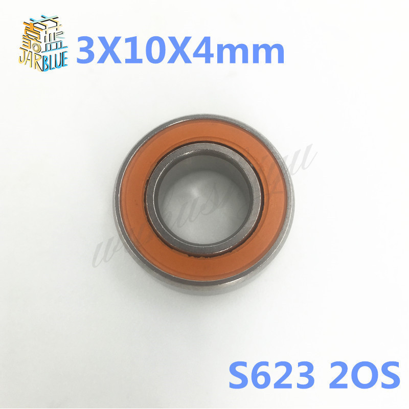 Free shipping S623 2OS 3X10X4mm S623 2RS CB LD 3x10x4 Stainless steel hybrid ceramic ball bearing fishing bearing 100pcs abec 5 440c stainless steel miniature ball bearing smr115 s623 s693 smr104 smr147 smr128 zz shield for fishing fly reels