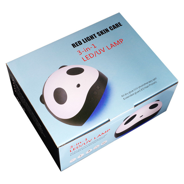 Cute Panda Shaper UV Lamp 36W LED Nail Dryer Manicure Lamps Double Light Auto Motion Drier For Curing Gel Polish Nail Art Tools 5