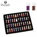 48 Garrafas de Colorido 3D Lantejoulas Glitter Beads Prego Acrílico UV Gel Nail Art Decoração