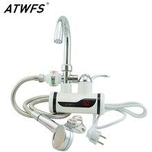 ATWFS Grifo Del Calentador de Agua 220 v Cocina Grifo de Ducha Instantánea Calentador de Agua Calentadores de Agua Sin Tanque Instantánea Calefacción