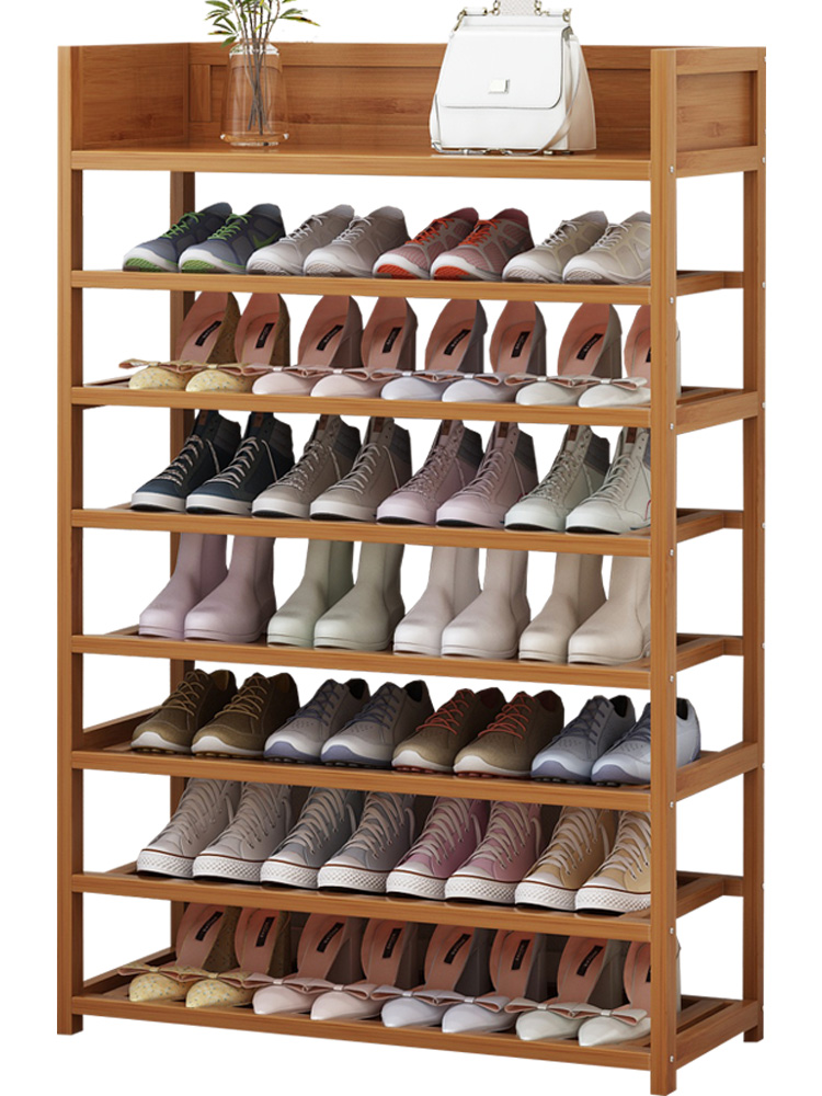 Simple Shoe Rack Storage Multi-function Home Shoes Cabinet Multi-layer Dustproof Economical Solid Wood Shoe Rack