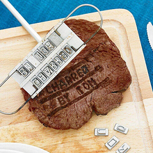 Whism DIY индивидуальное Нержавеющая сталь гриль Брендинг железа Инструменты Набор Сменные 55 письма мясо стейк гриль Аксессуары