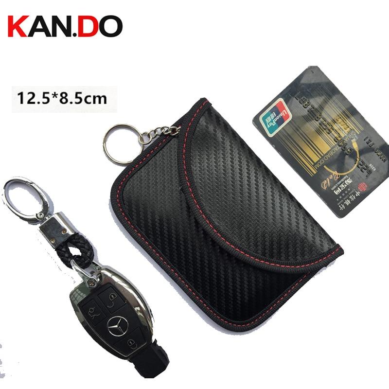 12.5x8.5cm Car Key Jammer Bag Card Anti-Scan Sleeve Bag Signal Blocker Bank Card Protection Jammer Remote Car Key Jammer Bag