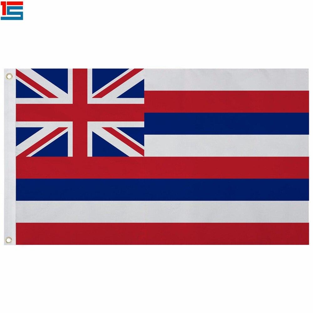 2018 New Arrival Os EUA Bandeira de Poliéster bandeira do estado do Havaí 5*3 PÉS Bandeira De Alta Qualidade
