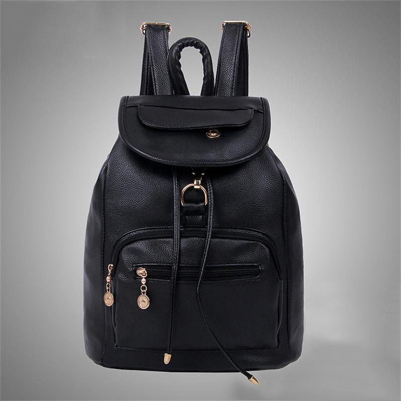 ФОТО Preppy Style backpack school bags for teenagers girl sport bag for women PU Leather backpacks Free shipping