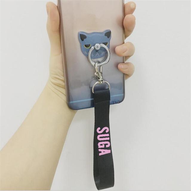 BTS Nylon Ribbon Key Chain (Sold Separately) (Jungkook Jimin V Suga Jin Rap Monster Jhope J-Hope)
