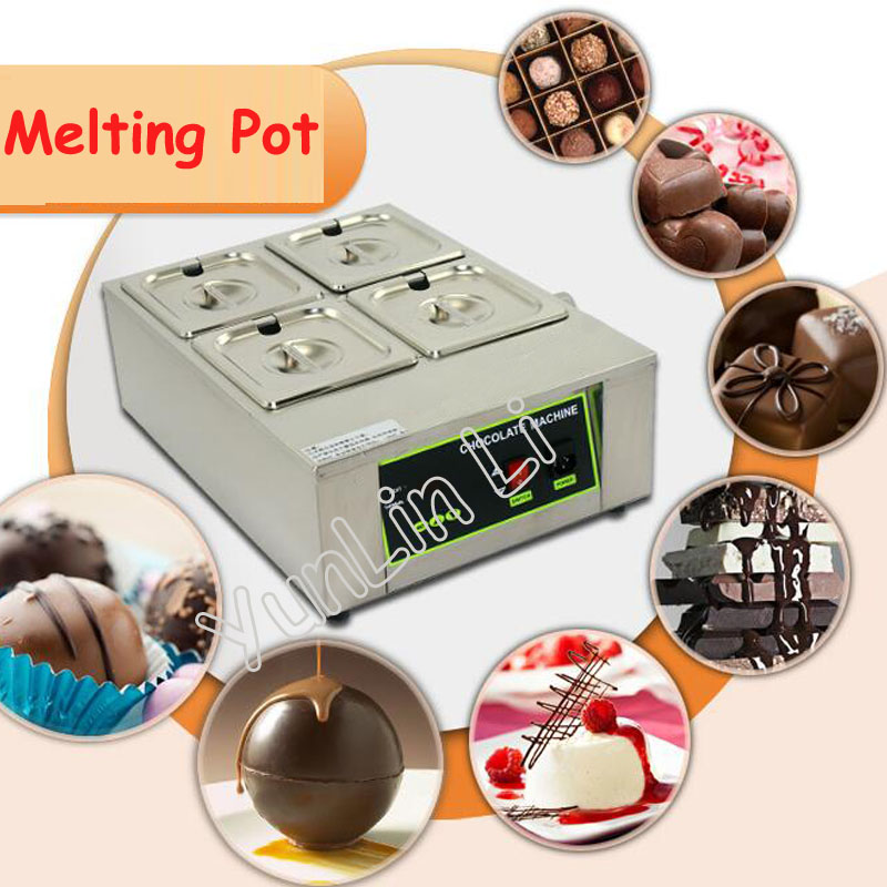 4 Cylinder Chocolate Soaps Melting Pot Thermostatic Kerotherapy Furnace Machine DIY Electric Chocolate Fountain D2002-44 Cylinder Chocolate Soaps Melting Pot Thermostatic Kerotherapy Furnace Machine DIY Electric Chocolate Fountain D2002-4