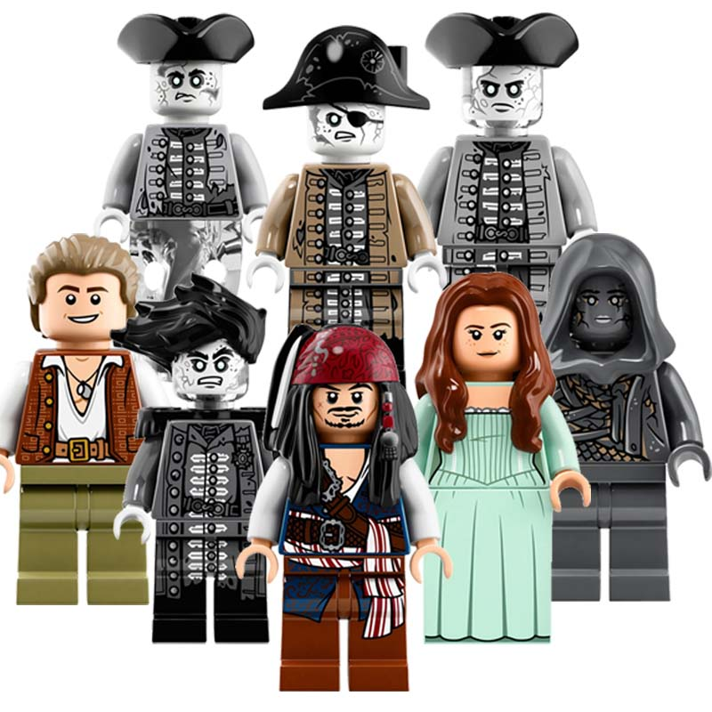 CZHY Educational Blocks Pirates of the Caribbean Dead Men Tell No Tales Salazar's Revenge Figures Bricks Kids DIY Toys PG8048 new lepin 16009 1151pcs queen anne s revenge pirates of the caribbean building blocks set compatible legoed with 4195 children